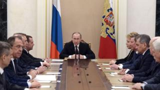 President Putin chairing Russian Security Council, 24 Feb 16