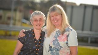 Mair Dowell (l) and Paula Magill
