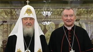 патриарх Кирилл и кардинал Паролин