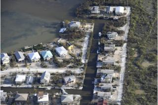 Storm damage on the Florida Keys, 11 September