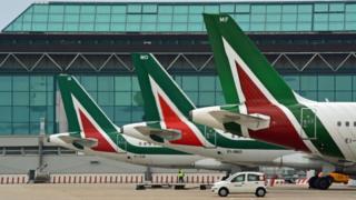 Alitalia plane fins
