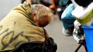 Homeless person in Italy (file image)