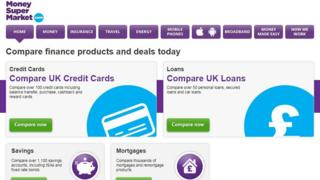 Moneysupermarket website