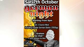 The Buck Inn poster for its German night