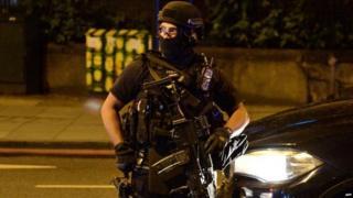 Armed police respond to terror attack in London Bridge in June 2017