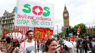 Schools protest