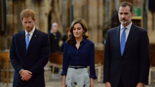 Prince Harry, Queen Letizia and King Felipe
