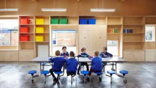 Children in new school