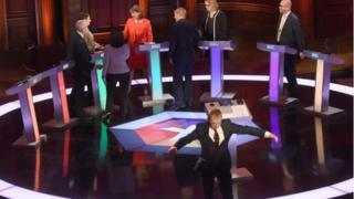 The leaders at the close of the debate