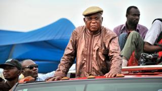 Etienne Tshisekedi, l'opposant mythique congolais, lors d'une campagne électorale en 2011