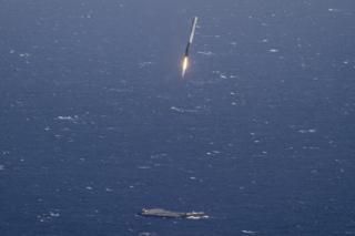 Falcon booster landing