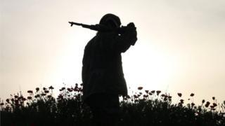 جنگجوی مخالف در جنوب سوریه