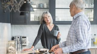 older couple in kitchen