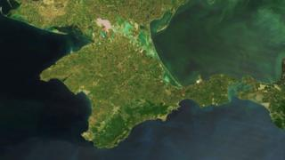 NASA satellite image of the Crimean peninsula