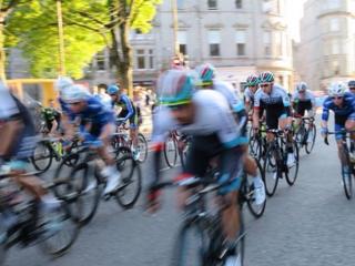 Cycle race in Aberdeen