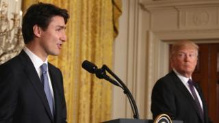 Trudeau y Trump