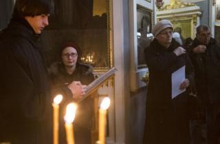 Молодежный хор на молебне