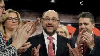 Newly elected SPD chairman and candidate for the upcoming general election Martin Schulz, 19 March