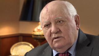 Gorbachov hablando con la BBC en diciembre de 2016