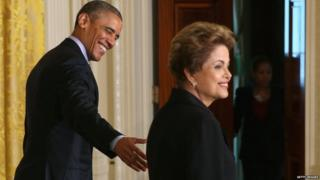 Barack Obama and Dilma Rousseff, White House, 30 June 15