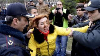 Azeri police arrest opposition activist, 2015 file pic