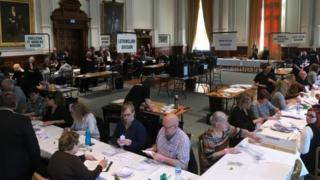 The count in Great Yarmouth Town Hall