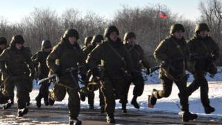 Russian soldiers on exercise, 8 Feb 16