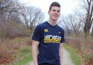Jake Moore is a first-year gymnast at the University of Michigan
