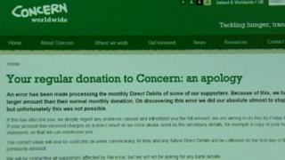 Concern withdrew 100 times the normal donation amount from some of its supporters' bank accounts