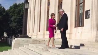 Nicola Sturgeon and Carwyn Jones