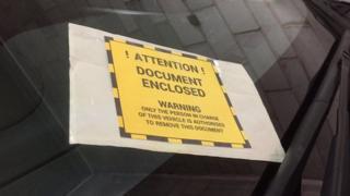 Pemberitahuan pelanggaran parkir