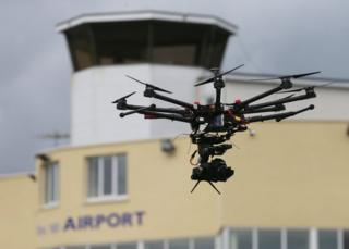 Drone at the inaugural Unmanned Aircraft Association of Ireland (UAAI) Meet the Drones showcase event at Weston Airport