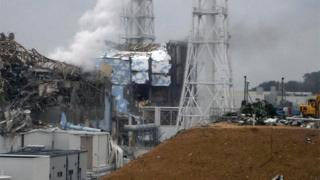 東日本大震災で破壊された福島第1原発