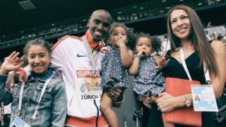 Mohammed Farah na familia yake