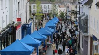 Chepstow High Street and market