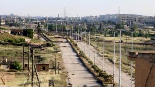 Halep'in kuzeyindeki Handarat kasabası