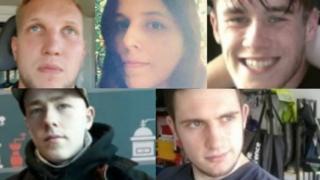(Clockwise) Nathan Pryke, Claudia Patatas, Joel Wilmore, Darren Fletcher and Adam Thomas