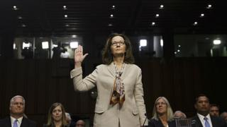 Gina Haspel at her Senate Intelligence Committee confirmation hearing on Capitol Hill in Washington, May 9, 2018