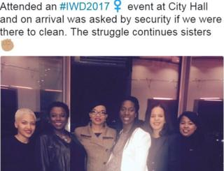 Social media post showing Carole Williams - far left and Sophie Conway second from left
