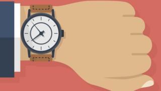 Ilustração de relógio no pulso