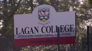 A sign outside Lagan College