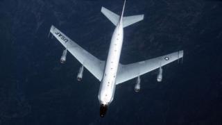 The US RC-135 reconnaissance plane