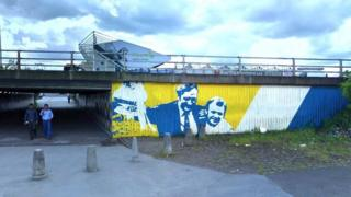 Impression of a mural on the underpass