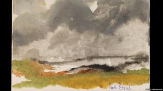 Dame Judi's watercolour