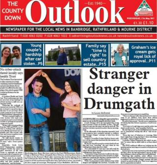County Down Outlook front page, 17 May