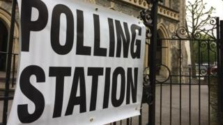 Polling station in Bristol during 2017 election