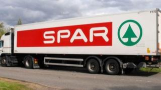 SPAR delivery lorry