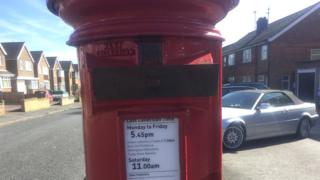 Blocked post box