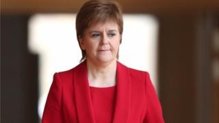 Nicola Sturgeon at the Scottish Parliament
