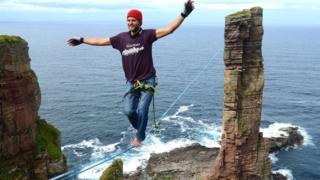 Alexander Schulz on high wire